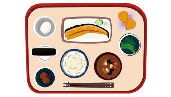 元気と健康の源「朝食」を食べようイラスト