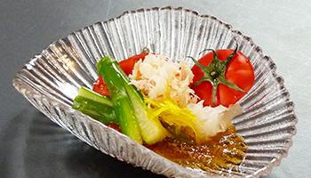 フルーツトマトとずわい蟹の酢の物