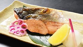 桜鱒塩焼き