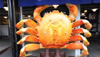 蟹のモニュメント