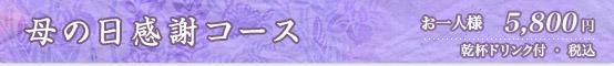 母の日感謝コース 5800円