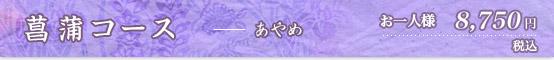 菖蒲コース 8750円