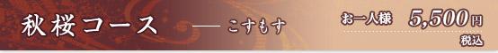 秋桜コース 5500円